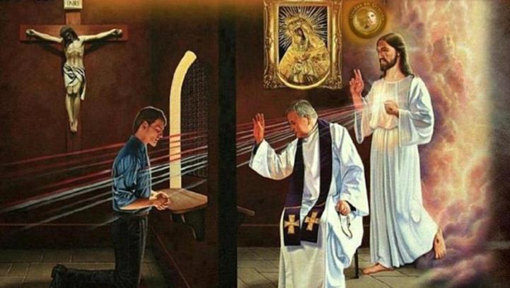 Resultado de imagen de confesar todos sus pecados al menos una vez al año
