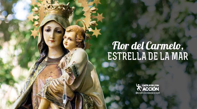 Virgen Del Carmen Flor Del Carmelo Estrella De La Mar