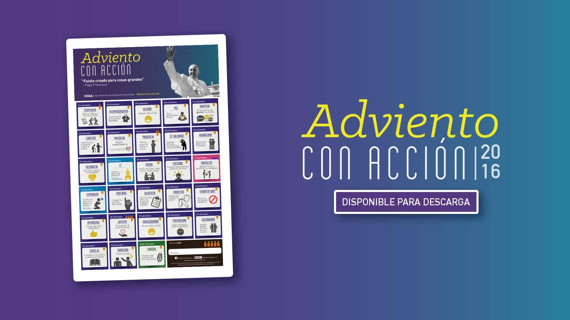 Calendario de Adviento con Acción 2016 – 28 días, 28 desafíos