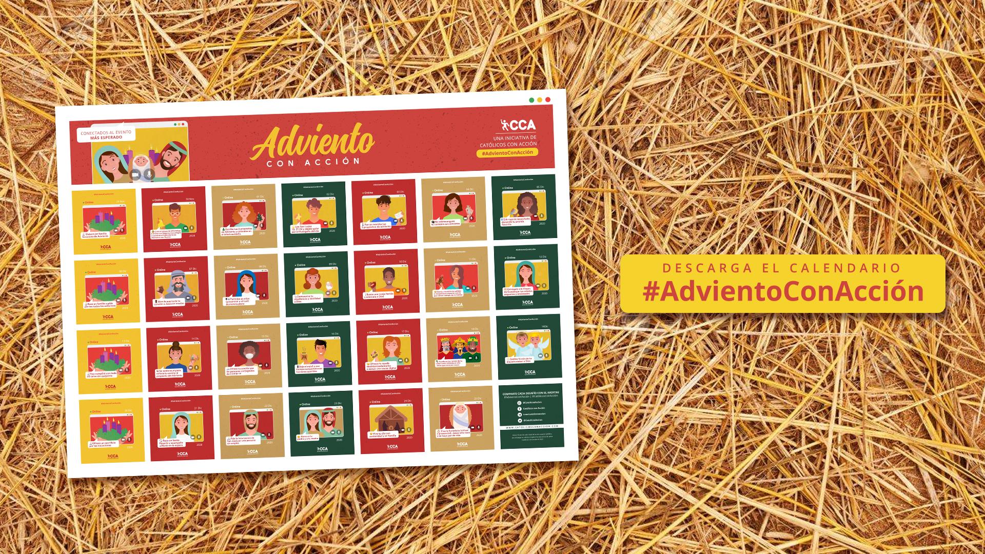 Descarga el Calendario de Adviento con Acción 2020 | 27 días – 27 desafíos | Católicos con Acción